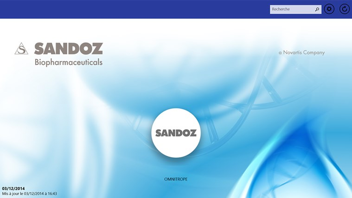 Discover the new Sandoz app on your tablet!