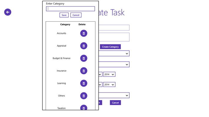 Create, Delete infinite categories/tags to keep your tasks categorized.