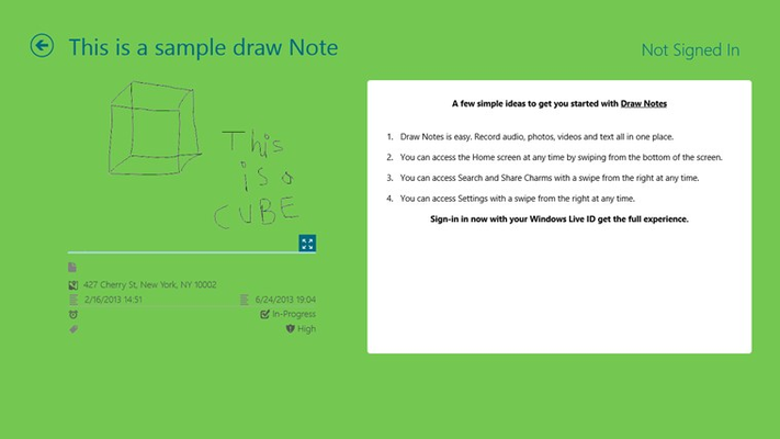 View you sketch and notes with all the details.