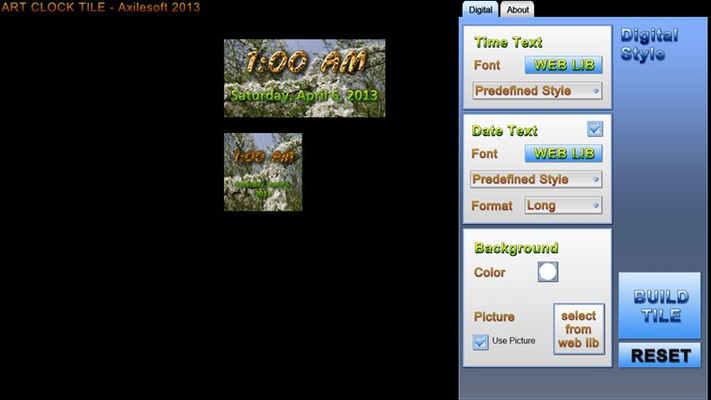 Picture Background from web lib