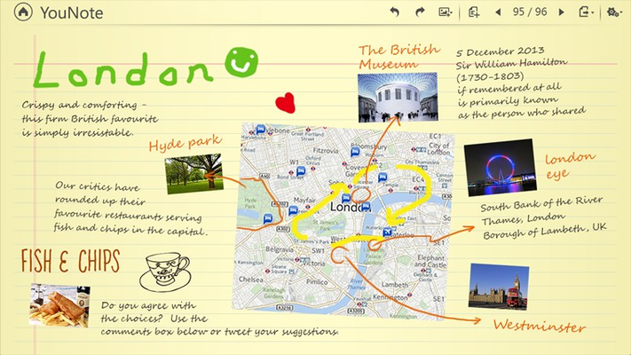 There is no limit to the ways you can use YouNote to make life easier, like creating simple-to-follow maps using photos and text.