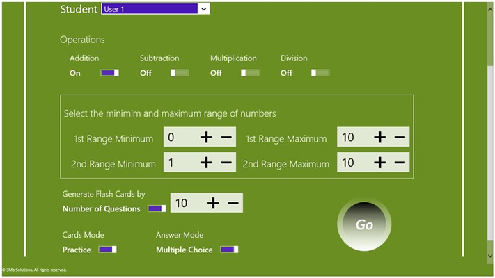 Math Flashcards! for Windows 8
