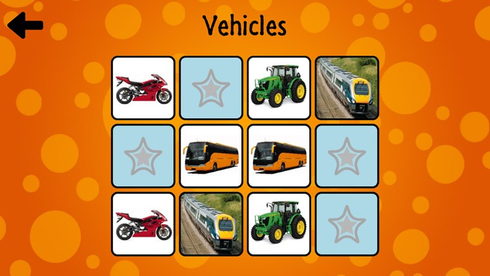 The vehicles game.