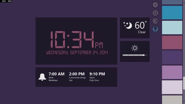 Create a personal look with the digital custom clock face