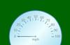 Speedometer in portrait