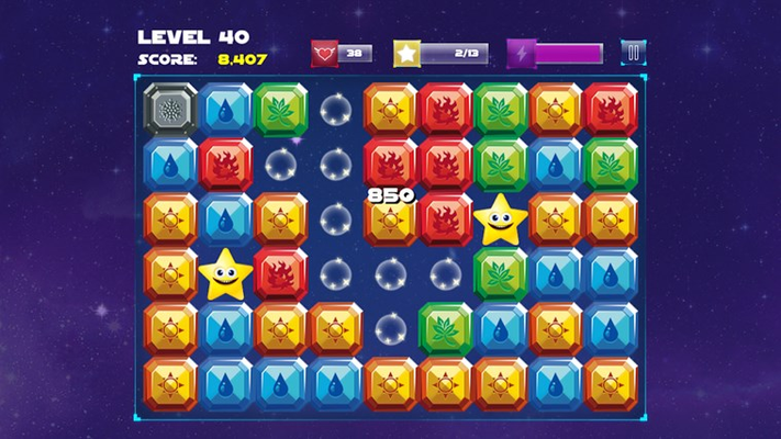 Tap a group of 3 or more cubes with same color to destroy them