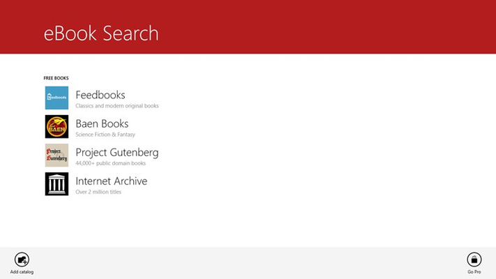 eBook catalogs