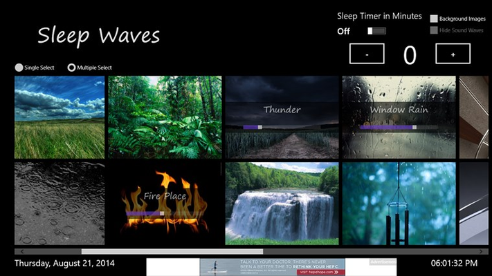 Sleep Waves Free for Windows 8