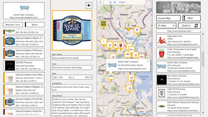 Brewery and beer information, from big to small breweries.