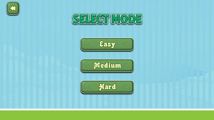 Game mode selection screen