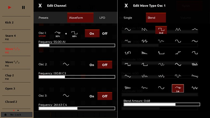 You can create your own sounds using sequencer's wavetable synthesizer.