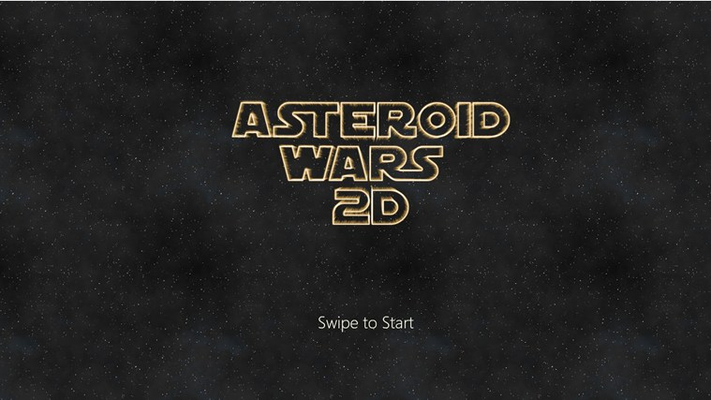 Click start and get ready to dodge asteroids.