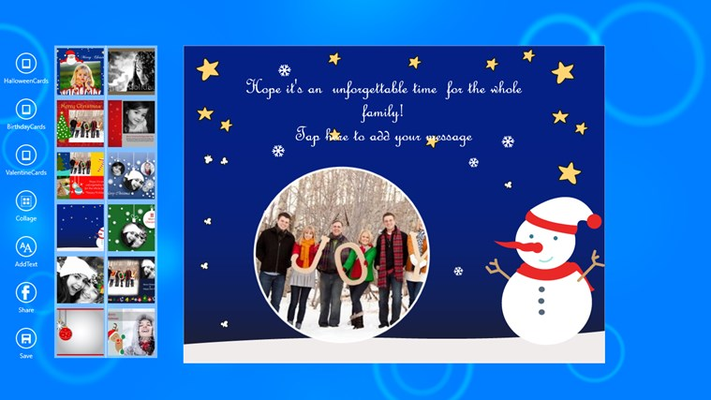 Add your own photos, make beautiful customized cards.