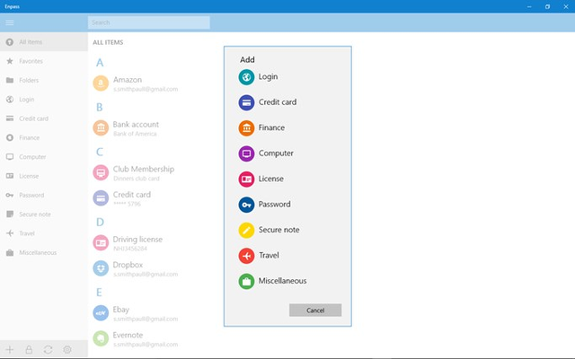 Enpass for Windows 8