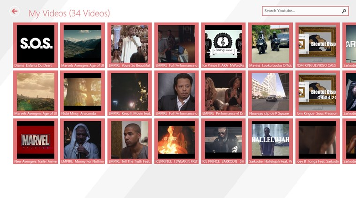 Your downloaded videos with a built-in video player.You can also manage all of your downloaded video from here