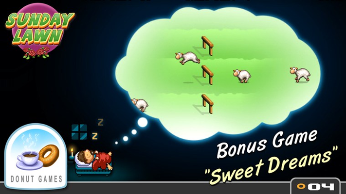 "Includes the bonus game ""Sweet Dreams"""