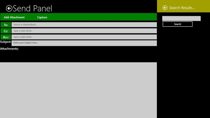 Send Panel
