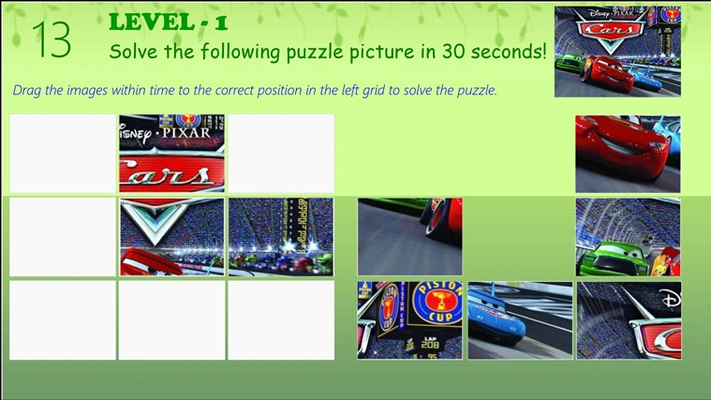 Cars Jigsaw Puzzle - Puzzle Screen