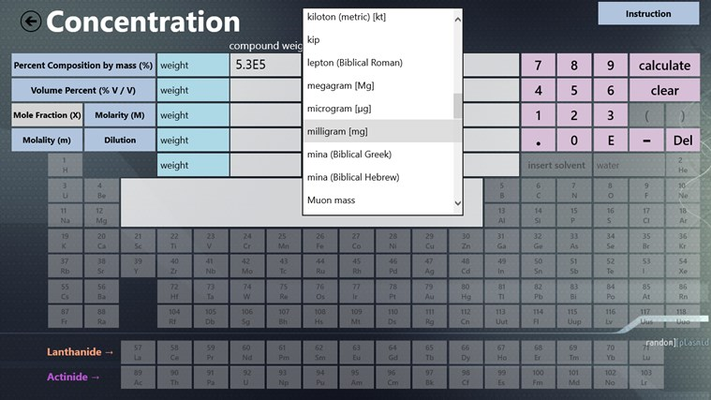 With the concentration tools, you can input any in any unit of weight, moles, or number of molecules.