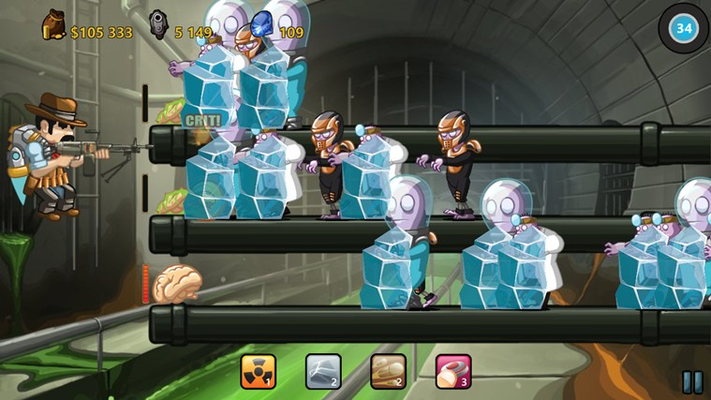 Freeze spell effect (Sewage level)