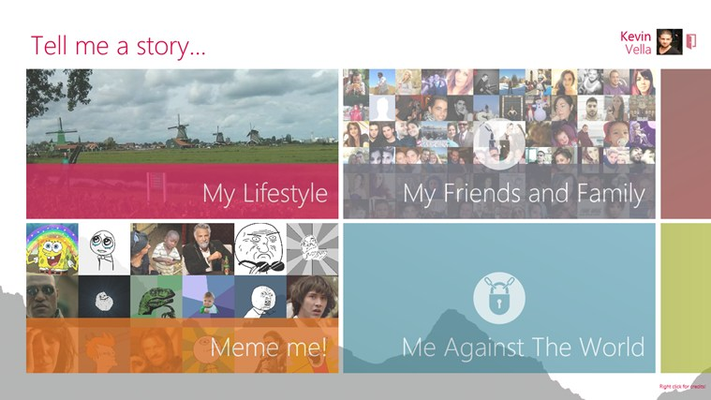 Select a story of yourself or your friends to see!