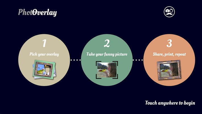 Photoverlay is a fun and funny photo overlay tool for your Windows tablet