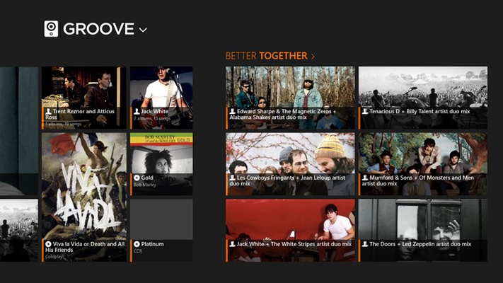 Groove: Smart Music Player for Windows 8