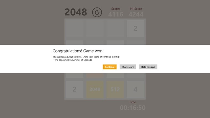 You can unlock the Endless mode right after you win the original 2048