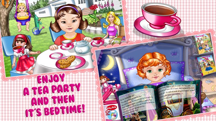 Enjoy a tea party and then it's bed time