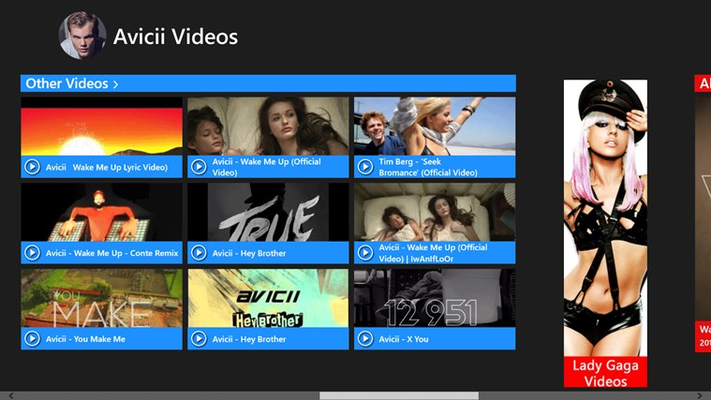 Avicii Videos for Windows 8