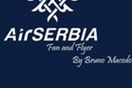 Air Serbia Fan and Flyer