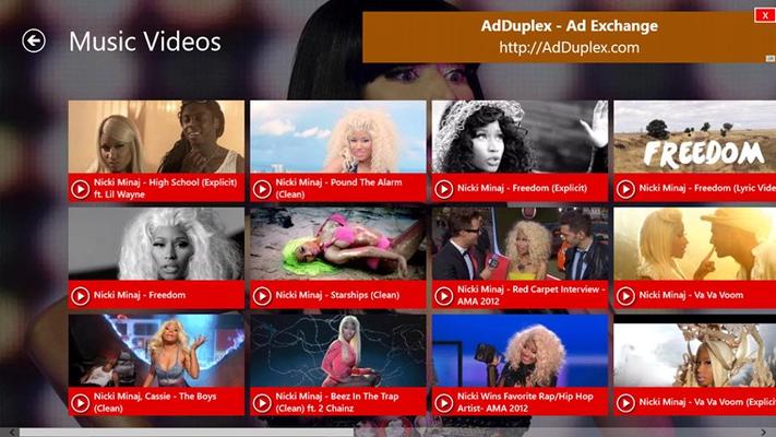 Nicki Minaj Videos for Windows 8