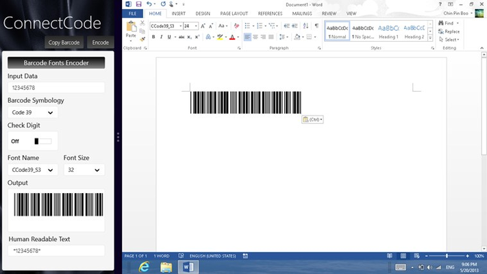 Barcode Software for Windows 8