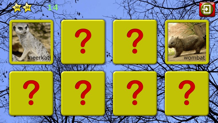 Find the pairs memory game
