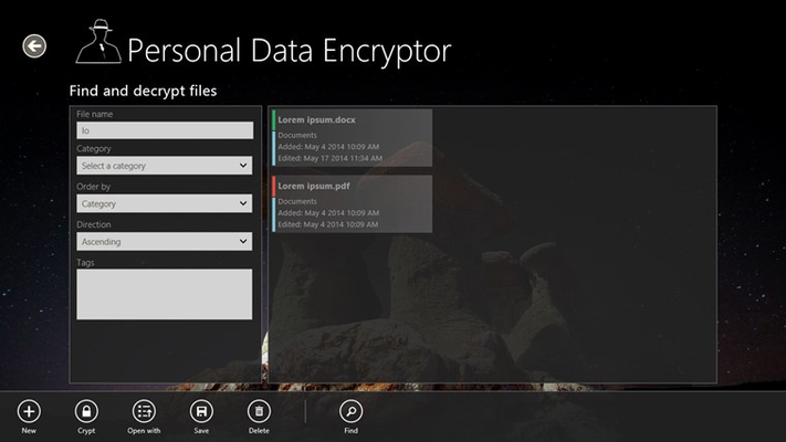 Find encrypted files