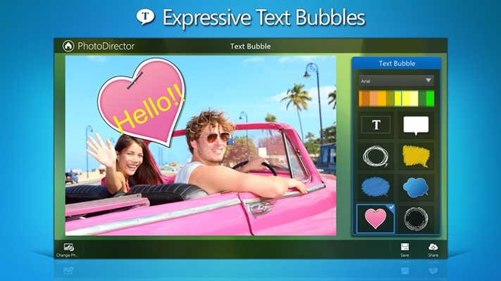 Give your photos some personality with text bubbles to suit any occasion.