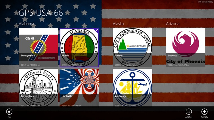 GPS USA 66 for Windows 8