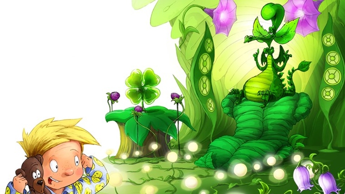 At the Green Rainbow Dragon's Castle