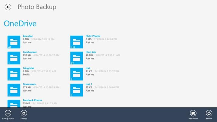 browser onedrive folder