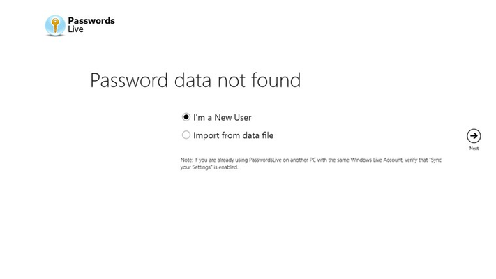 Import and export your passwords if needed