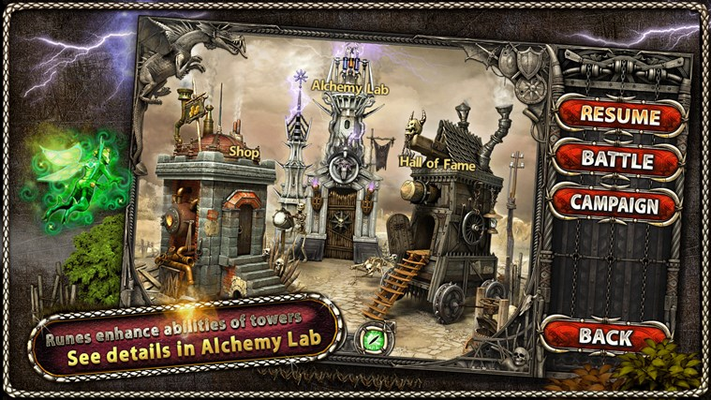 Runes enhance abilities of towers. See details in Alchemy Lab