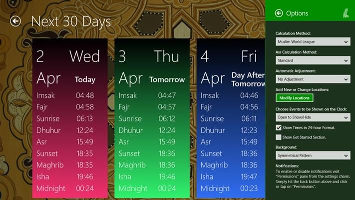 Prayer Times Free for Windows 8