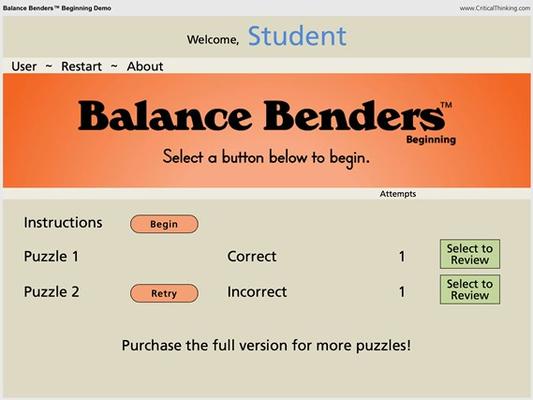 Balance Benders™ Beginning Demo for Windows 8