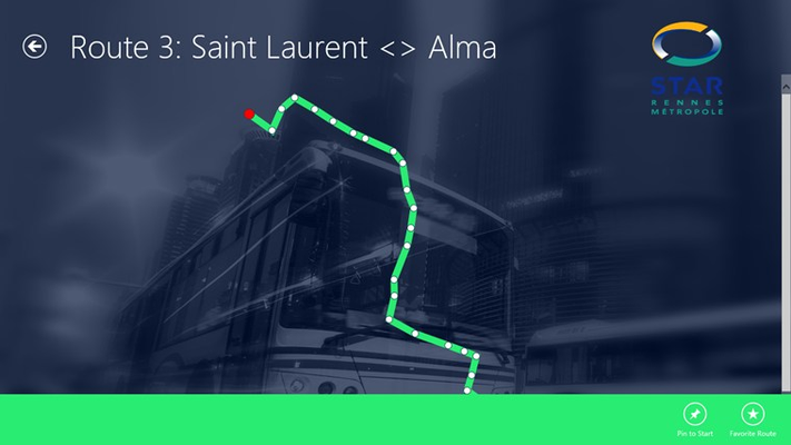 Route detail page