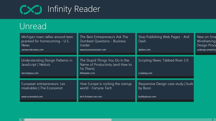 View of unread bookmarks