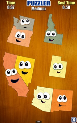 The Puzzler bonus game lets you put the states together like a jigsaw puzzle!