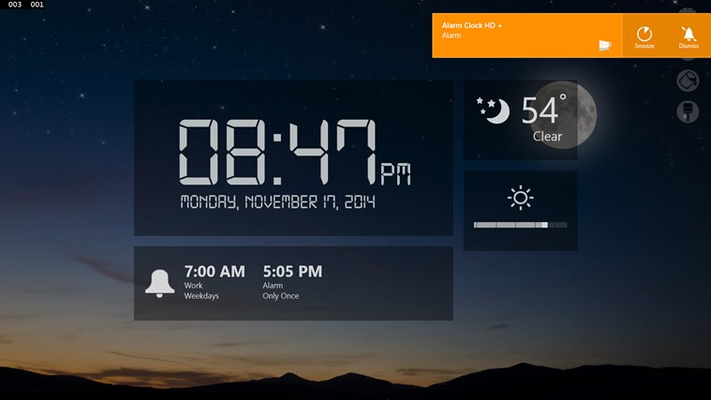 Now featuring weather backgrounds!