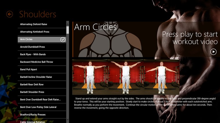 Shoulders exercise page