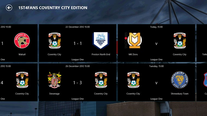 Full fixtures and results