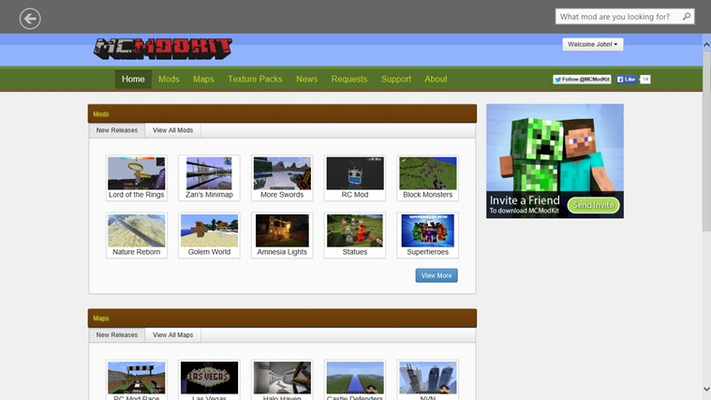 Browse hundreds of mods, maps and texture packs!
